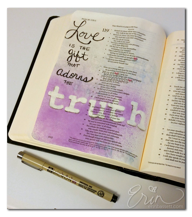 Bible Journaling Psalm