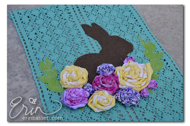 ScanNCut Bunny Flowers - Close Up