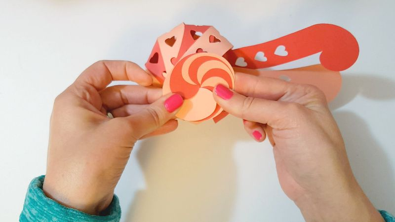 Heart Candy Kirigami - Step3