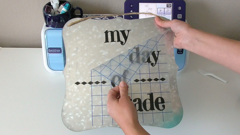 Back To School Photo Board -Step 1 - grid transfer2