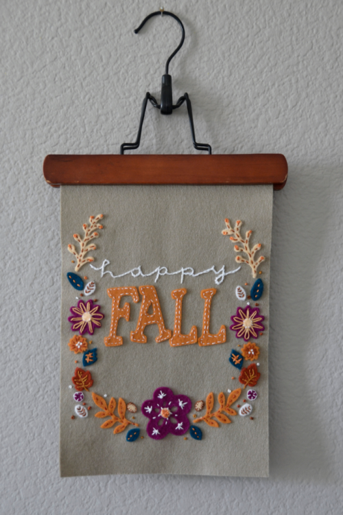 Fall Wool Felt Applique Emberoidery Tutorial