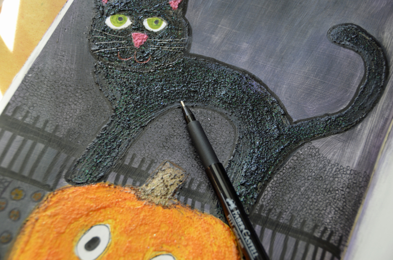 Black Licorice Gelatos - Halloween Art Journal 1